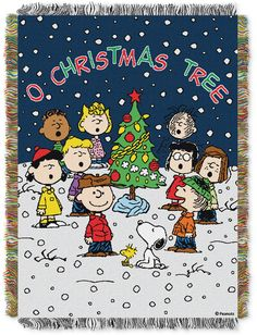 Celebrate with laughter and cheer with the whole Peanuts gang with the Peanuts Charlie Brown Christmas Tapestry Throw. This hand woven throw features fringe and is perfect as a room accent, bed covering, throw blanket, or wall hanging. Peanuts Christmas, Charlie Brown Christmas, Charlie Brown Peanuts, Cozy Christmas, A Christmas Story, Christmas Holidays, Christmas Decorations, Peanuts Gang, Xmas