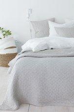 Ellos Home Elma Cast -päiväpeite, 180x260 cm Sininen, Valkoinen, Tummanharmaa, Beige - Parisänkyyn | Ellos Mobile