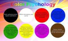 psychology of colour - Google Search