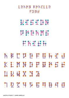 LEARN BRAILLE font - WeMe Studio