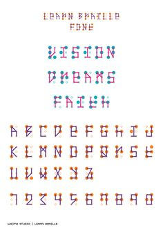 LEARN BRAILLE font - WeMe Studio