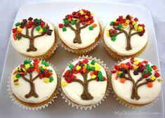 Autumn Tree Cupcakes