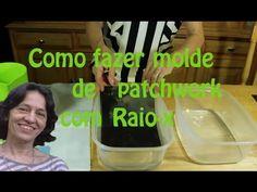 Como fazer molde de patchwork com Raio-X - YouTube