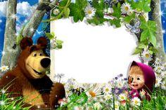 Marcos de fotos online gratis. Categoría: Masha y el Oso