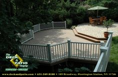 Combination deck and paver patio