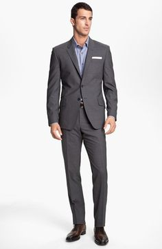 Free shipping and returns on Paul Smith London Wrinkle Free Stretch Wool Travel Suit at Nordstrom.com. A tailored two-piece suit features a lean-fitting, two-button jacket with stitch-trimmed notch lapels and slim, sharply creased flat front trousers. Stretchy, wrinkle-resistant wool makes it ideal for business travel.
