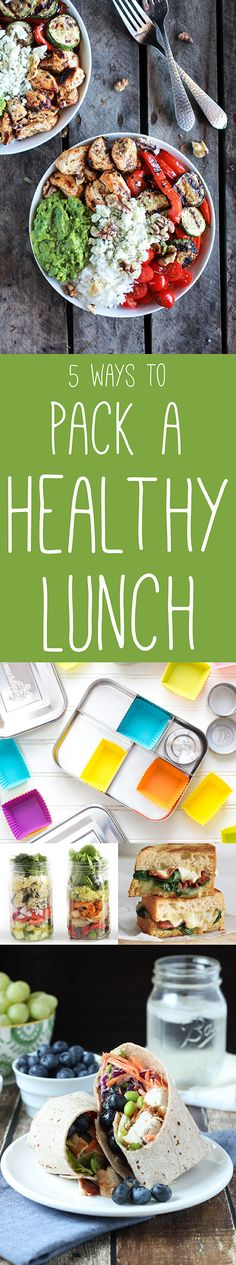 Healthy Recipes ~ These healthy lunch ideas will have your mouth watering without comprising your waistline!
