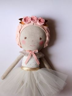 :: Crafty :: Cloth Doll :: 2 :: ♥ This dreamy doll is the perfect gift for girls and would look beautiful decorating a childs bedroom. ♥