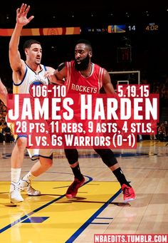 James Harden - 5.19.15 - L vs. Golden State Warriors - http://nbafunnymeme.com/nba-best-players-of-the-day/james-harden-5-19-15-l-vs-golden-state-warriors