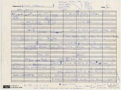 John Coltrane's Handwritten Outline for A Love Supreme