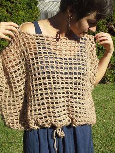 Crochet Poncho Sweater Pattern