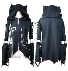I found 'Visual Kei Crossed Zipper Cat Ear Hoodie' on Wish, check it out!