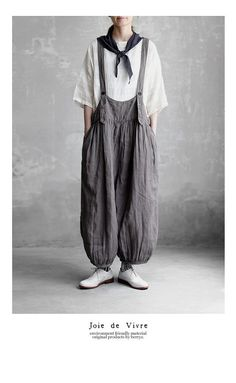 Quirky Fashion, Slow Fashion, Ethical Fashion, Boho Fashion, Fashion Design, Simple Outfits, Cool Outfits, Natural Fiber Clothing, Cute Overalls