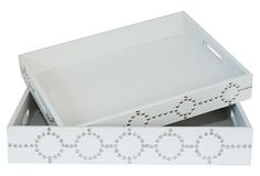 ARTFUL ACCENTS  S/2 Studded Trays