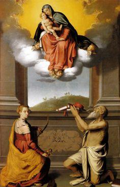 Giovan Battista Moroni - Madonna con il Bambino in gloria e i santi Caterina d'Alessandria e Gerolamo -1576  - Duomo -Bergamo (Italia)