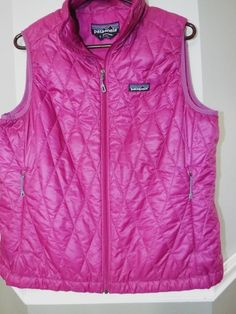 Patagonia vest Womens size L, Primaloft light weight, quilted Pinkish/Purple #Patagonia #Vest