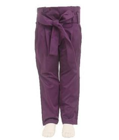 Anotahshop.com | Purple bow trousers for kids #fashion