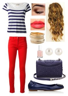 """""""#32 Tory burch"""" by rosaisela-98 on Polyvore featuring moda, Salvatore Ferragamo, Burberry, Tory Burch, Essie, Too Faced Cosmetics, Christian Dior Haute Couture y Henri Bendel"""