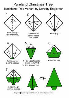 en el pais de la piruleta...: Pino de origami