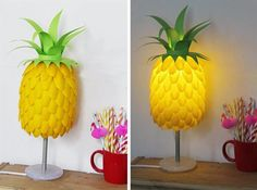 Make your lamp fruit themed with this pineapple-shaped orb.