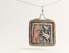 Ginger Meek Allen-an extremely talented metalsmith who creates jewelry with a story like this St. Francis and the Wolf of Gubbio pendant.