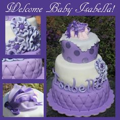 Images For > Girl Baby Shower Purple
