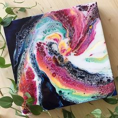 77 acrylic flip and drag with negative space dianemichelutti Acrylic Pouring Art, Acrylic Resin, Acrylic Art, Resin Art, Flow Painting, Pour Painting, Creation Image, Flow Arts, Fluid Acrylics