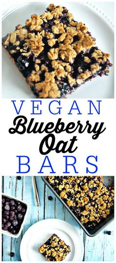 These Vegan Blueberry Oat Bars are a great recipe for a healthy breakfast, snack, or even desserts! I love this gluten-free treat.