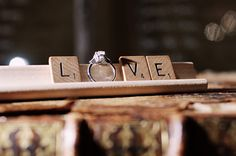 #love #wedding #scrabble
