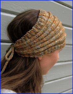 Loom Knitting, Knitting Patterns Free, Knit Patterns, Free Knitting, Knitted Headband Free Pattern, Knitted Beret, Crochet Headbands, Knit Or Crochet, Crochet Hats