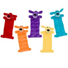 "Multipet Loofa Squeaker Mat Dog Toy 12"" (Assorted Colors) 