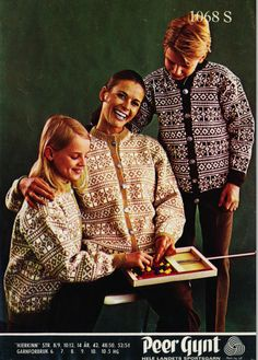 Hjerkinn Fant denne kofta i skapet til pappa, og fikk den. Norwegian Knitting, Fair Isle Knitting, Knitting Patterns, Knit Crochet, Sweaters, Cardigans, Couple Photos, Sewing, Vintage