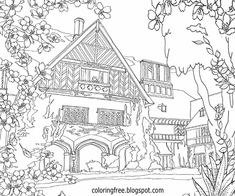 House coloring page...