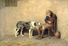 'Fidelity' by Briton Rivière.  I first saw this in the Lady Lever Art Gallery in Port Sunlight.  It breaks my heart and I spend ages staring at it.  The compassion and love from the dog to the man is stunningly depicted.