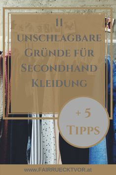 Secondhand (and vintage) clothing is a sustainable alternative to buying new … - Kleidung 2019 Slow Fashion, Ethical Fashion, Second Hand Kleidung, Vintage Outfits, Vintage Clothing, Basic Style, My Style, Rustic Candles, Second Hand Shop