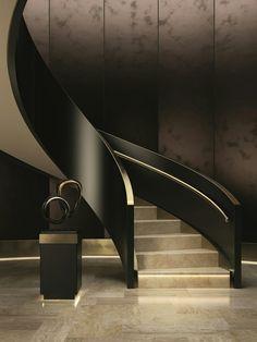 40 top 10 unique modern staircase design ideas for your dream house 29 Luxury Staircase, Staircase Railings, Staircase Design, Stairways, Architecture Design, Stairs Architecture, Interior Stairs, Home Interior Design, Casa Retro