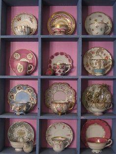 Tea cups. Display