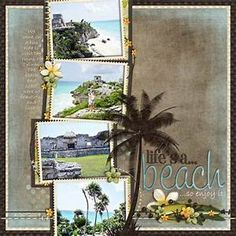 17 Best ideas about Beach Scrapbook Layouts on Pinterest ...