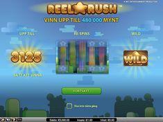 Reel Rush är en 5-hjuls spelautomat med funktioner som Wild-ersättningar, re-spins och Free Spins med upp till 3125 sätt att vinna.