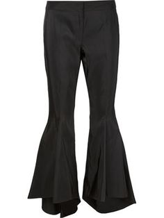 asymmetric flared trousers