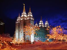 temple square during Christmas