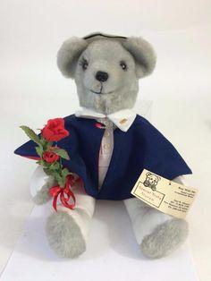 Hand Crafted Special Duty Nurse Artist Custom Occupational Teddy Bear,Tag, Roses #NurseBearCaregiver