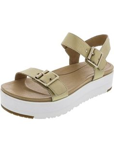 ed72bf8633bc Ugg Women s Angie Metallic Gold Leather Sandal - 9.5M