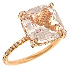 Gold and morganite // are you the princess type?