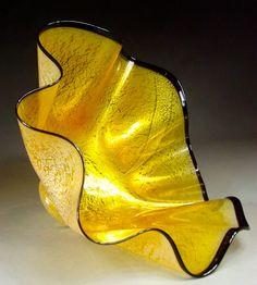 Hand Blown Glass Platter Bowl. $300.00, via Etsy.