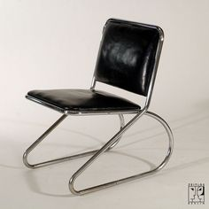 Cantilever tubular steel chair by Heinz and Bodo Rasch in Streamline-Design