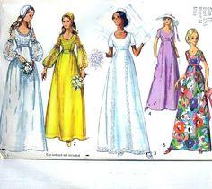 Simplicity pattern 1971 vintage wedding dress