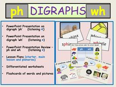 Phonics: Digraphs Ph and Wh, Presentations, Lesson Plans,  Activities, Audio, Worksheets,