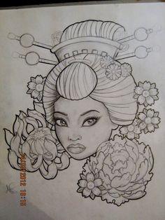 Geisha+Tattoo+Design+by+Frosttattoo.deviantart.com+on+@deviantART