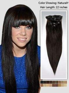 solid-color black hair extensions